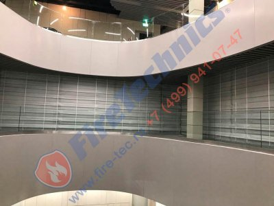 Противопожарные автоматические шторы «Гармошка» в EXPO ASTANA